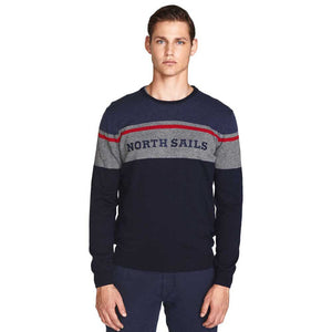 North Sails Striped Round Neck Pull Over