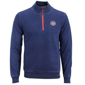 New Zealand Auckland NZA Sweat Pullover Troyer blue