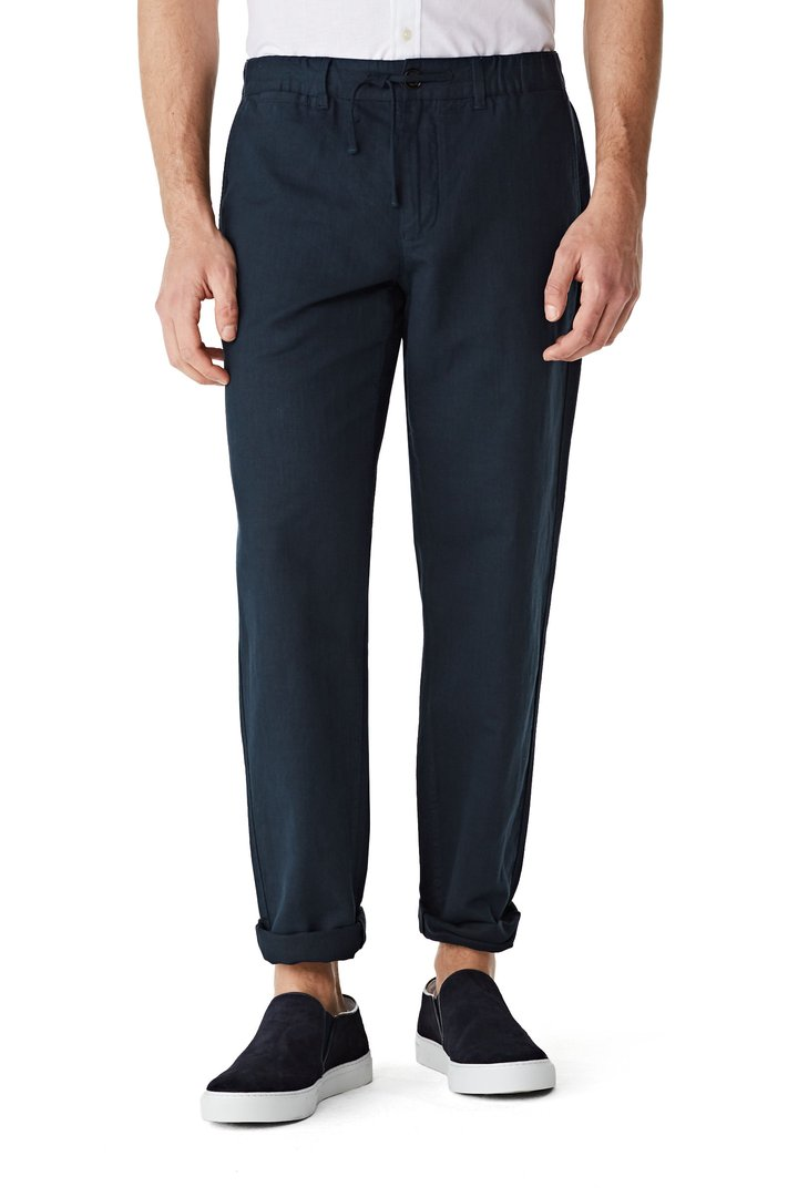 McGregor relaxed fit trousers in cotton and linen blend