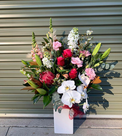 Glass and Ceramic Vase Arrangements