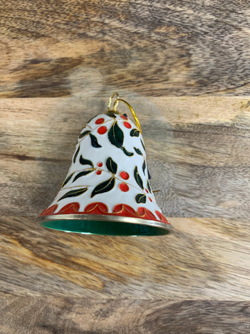 Christmas Holly Leaf Bell