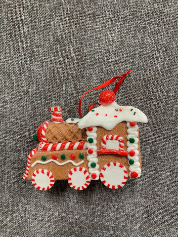 Gingerbread Train - Hanging Decoration