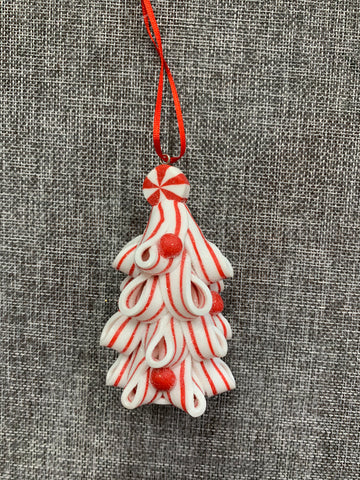 Candy Cane Tree White - Hanging Decoration