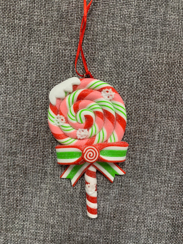 Candy Cane Lollipop Green - Hanging Decoration