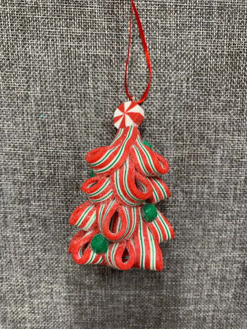 Candy Cane Tree Red and Green - Hanging Decoration