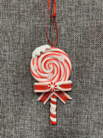 Candy Cane Lollipop Red - Hanging Decoration