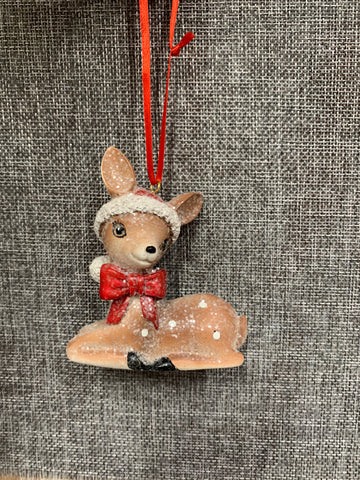 Christmas Deer Sitting - Hanging Decoration