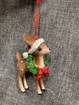 Christmas Deer Standing - Hanging Decoration