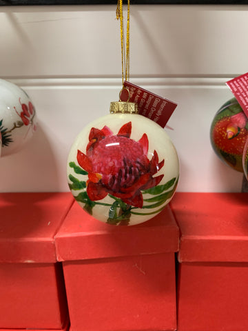 Waratah Bauble in Red Box - Hanging Decoration