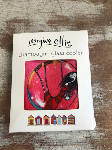 "Champagne Glass Cooler ""made of champagne"" - Imagine Ellie"