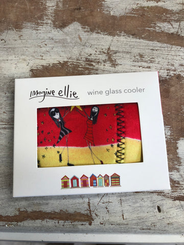 "Wine Glass Cooler ""wine makes us more fabulous"" - Imagine Ellie"