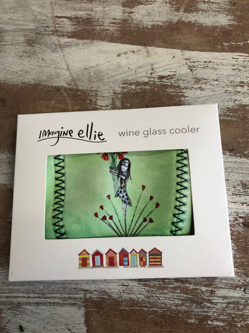 "Wine Glass Cooler ""add something beautiful"" - Imagine Ellie"