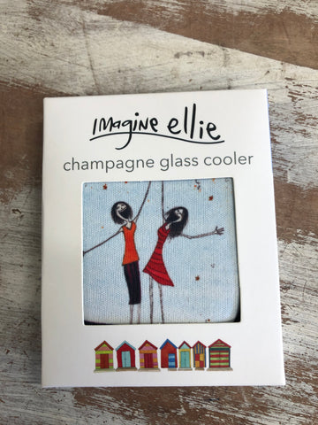 "Champagne Glass Cooler ""here's to us"" - Imagine Ellie"