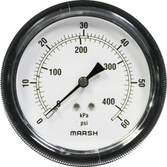 Marsh Air Pressure Gauge 0-60PSI