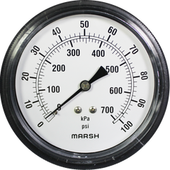 Marsh Air Pressure Gauge 0-100PSI