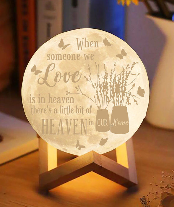 Butterfly when someone we love in the heaven Moon lamp