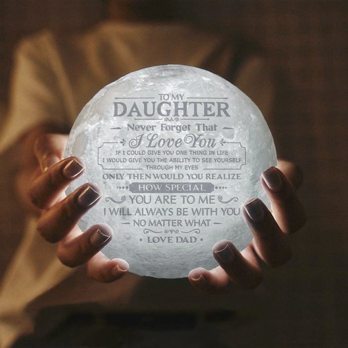Dad to Daughter - I Love You - Moon Lamp