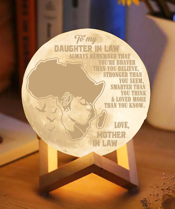 Love You My Daughter In Law Moon lamp