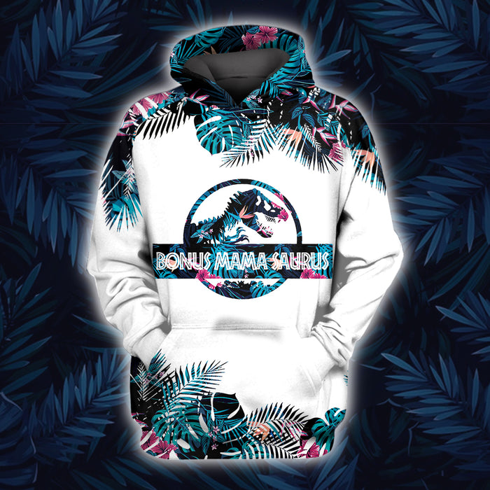 In a world full of moms be a bonus mama saurus 3D All Over Printed Hoodie/ Zip Hoodie Size S - 5XL