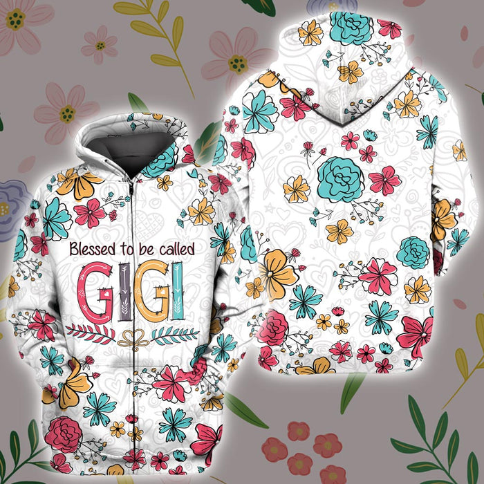 Colorful bless to be called Gigi 3D All Over Printed Hoodie/ Zip Hoodie Size S - 5XL