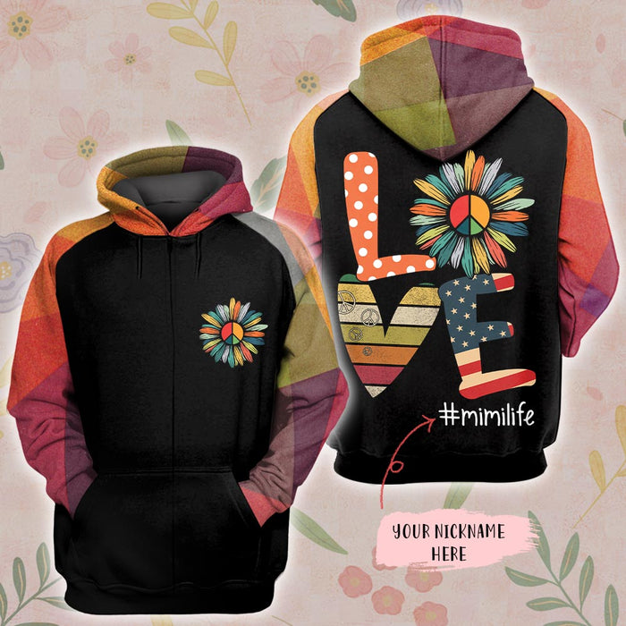 Sunflower love grandma life 3D All Over Printed Hoodie/ Zip Hoodie Size S - 5XL