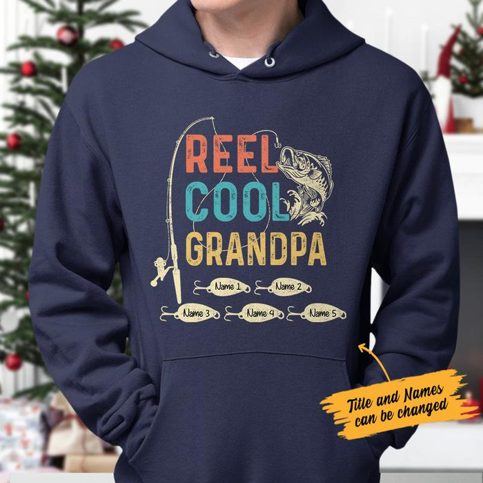 Reel Cool Grandpa Graphic Unisex T Shirt, Sweatshirt, Hoodie Size S - 5XL