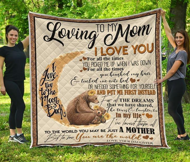 To Me You Are The World Mom Cozy Fleece Blanket