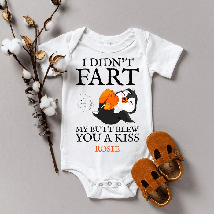 Personalized I didn't fart My butt blew you a kiss Baby Onesie Infant Bodysuit
