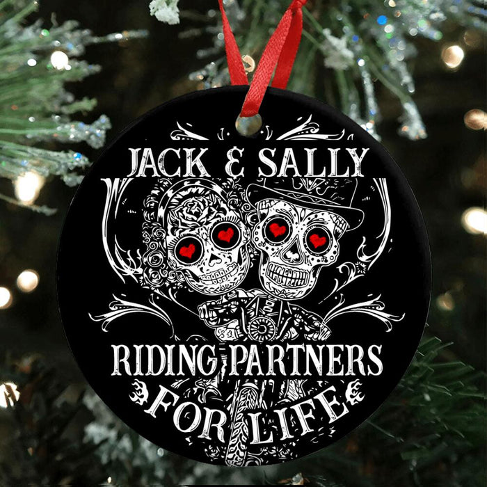 Custom Riding Partners For Life Ornament