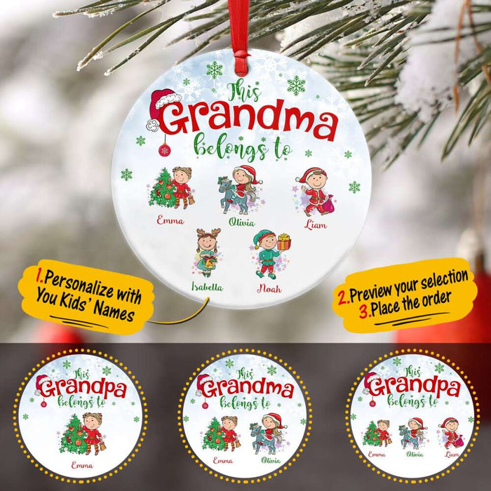Custom Christmas Ornament This Grandma Belongs To