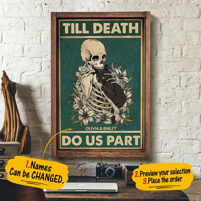Custom Till Death Do Us Part Wall Art Print Poster