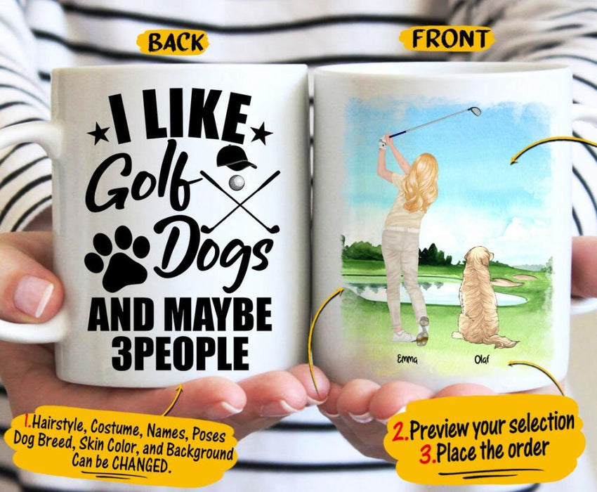 Custom I like golf and dogs 11Oz, 15Oz Ceramic Mug 11Oz, 15Oz Ceramic Mug