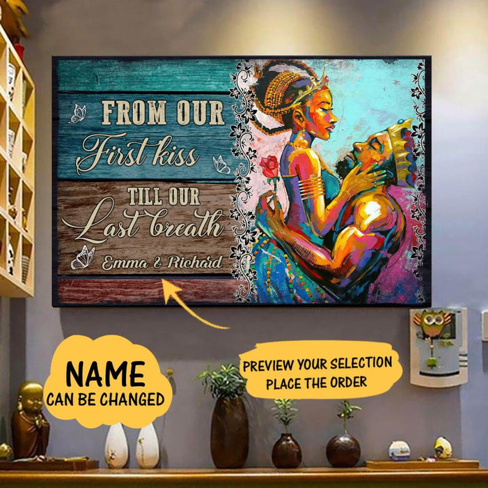 Custom From Our First Kiss Horizontal Poster