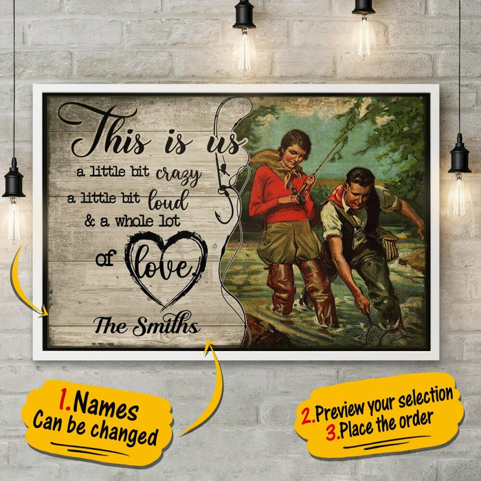 Custom Fishing This is us Wall Art Frint Poster