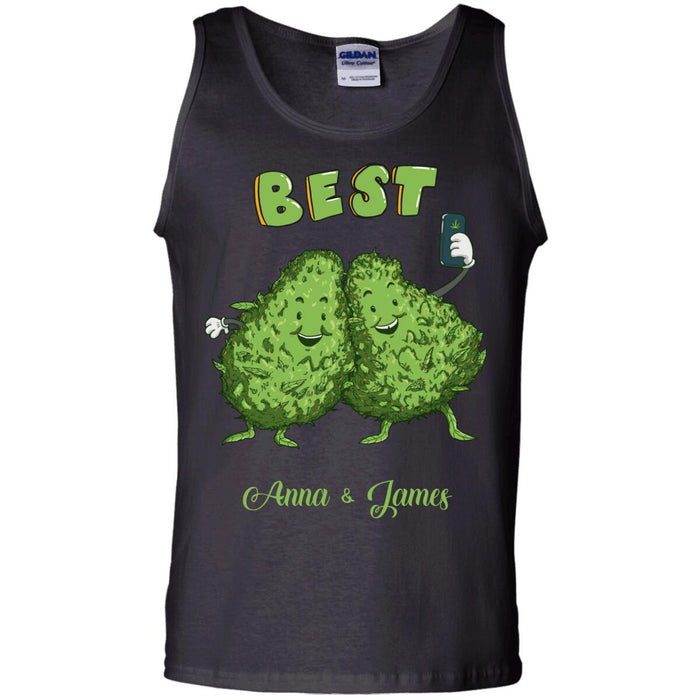 Custom Weed Best Front Printed T-Shirt