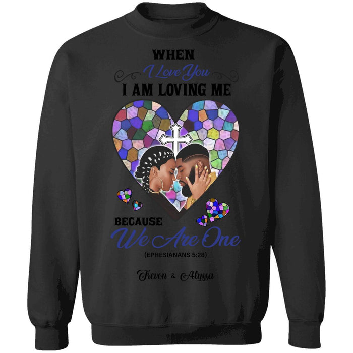 Custom Valentine We are one Front Printed T-Shirt