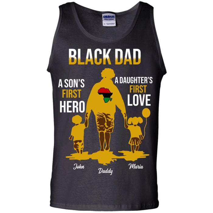 Custom Black Dad Front Printed T-Shirt