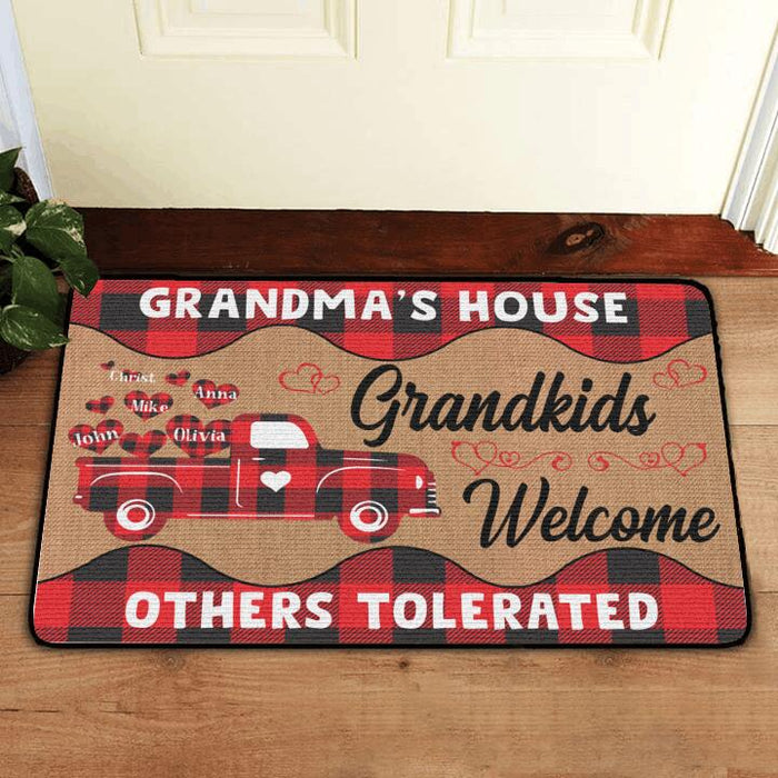 Custom Grandma's House Grandkids Welcome Doormat