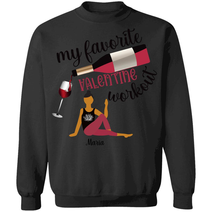 Custom My Favorite Valentine Workout Front Printed T-Shirt