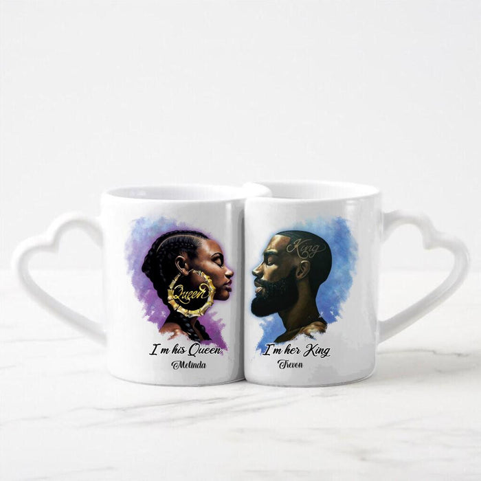 Custom Valentine King and Queen 11Oz Ceramic Couple Mug