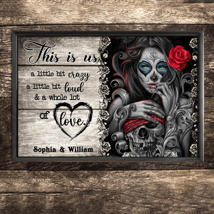 Custom Skull This Is Us Wall Art Print Poster