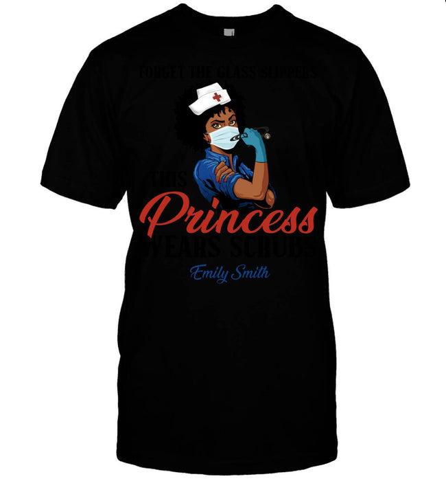 Custom Forget The Glass Slippers Front Printed T-Shirt