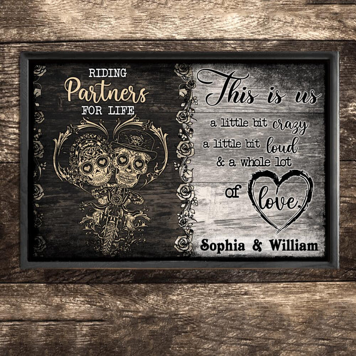 Custom Riding Partners For Life Wall Art Print Poster