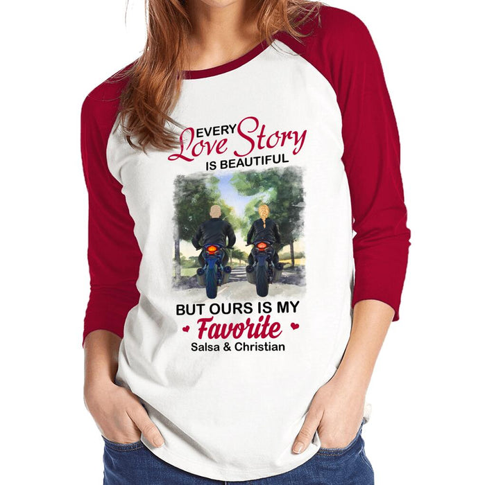 Custom Every Love Story Is Beautiful But Ours Is My Favorite Front Printed T-Shirt