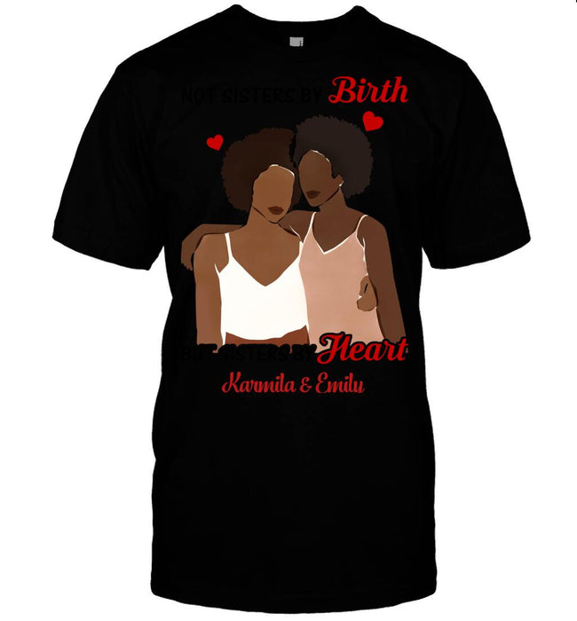 Custom Sisters By Heart Front Printed T-Shirt