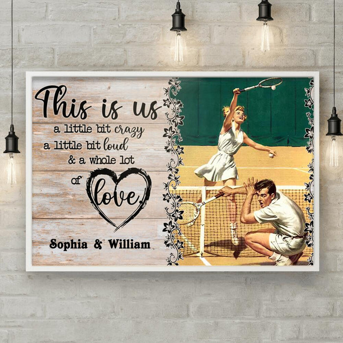 Custom Tennis Couple This Is Us Wall Art Print Poster