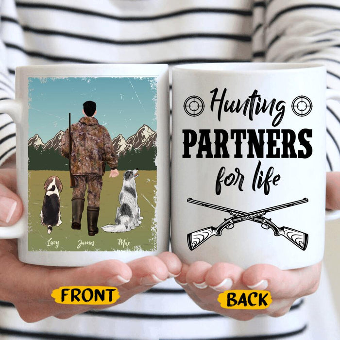 Custom Hunting Partners For Life 11Oz, 15Oz Ceramic Mug 11Oz, 15Oz Ceramic Mug
