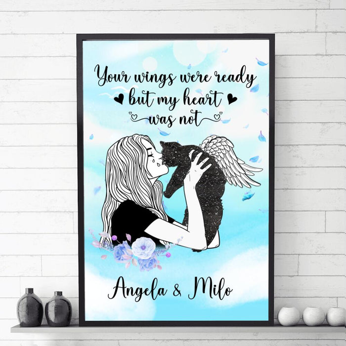 Custom Cat Your Wings Were Ready Wall Art Print Poster