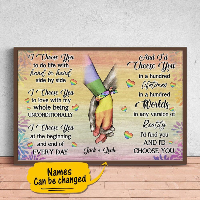 Custom LGBT I choose you Horizontal Poster