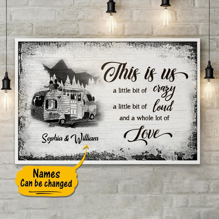 Custom Camping This Is Us Horizontal Poster